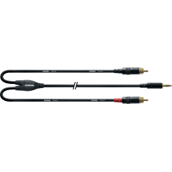 Cordial Câble Mini Jack  Stéréo / 2xRCA 1,5m