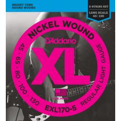 D'Addario EXL170-5 Nickel...