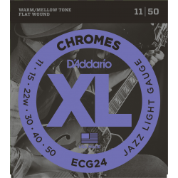 D'Addario Chromes filé plat Jazz light