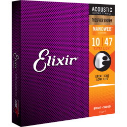 Elixir NANOWEB 80/20 Bronze Custom Light 11-15-22-32-42-52