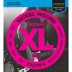 D'Addario EXL170-5 Nickel...